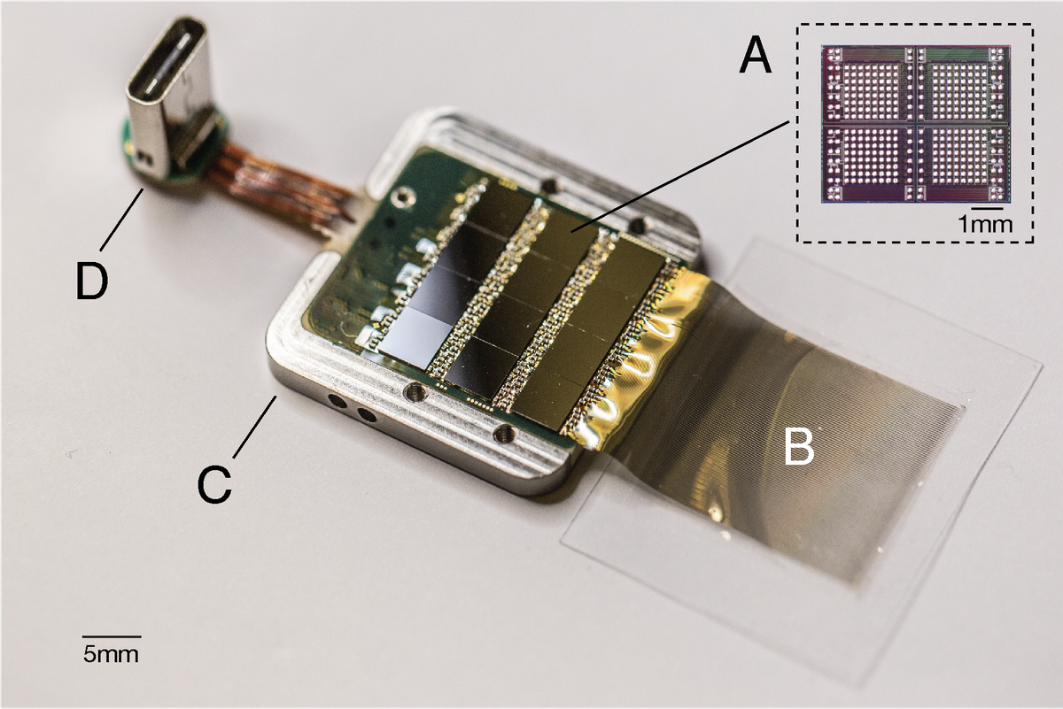 The chip that amplifies signals and sends them off to a computer.