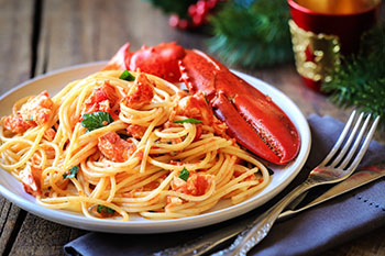 pasta with lobster