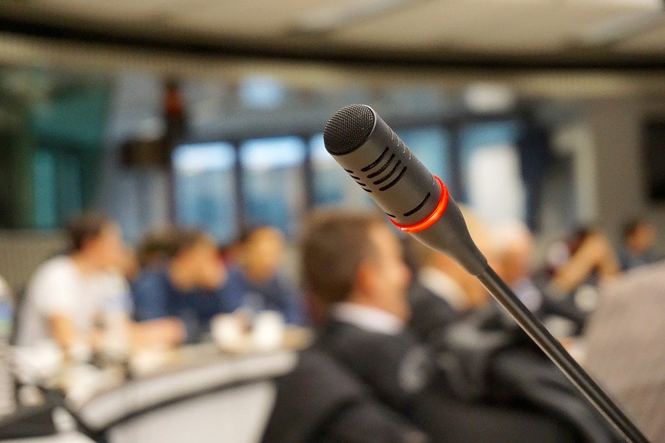 Microphone, Active, Talk, Conference, Meeting, Audio