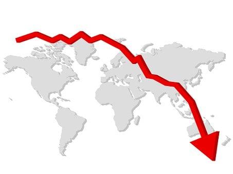 Arrow, Business, Crisis, Decline