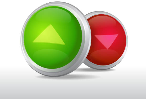 Binary options CALL and PUT buttons for binary options.  stocks high and low stock illustrations