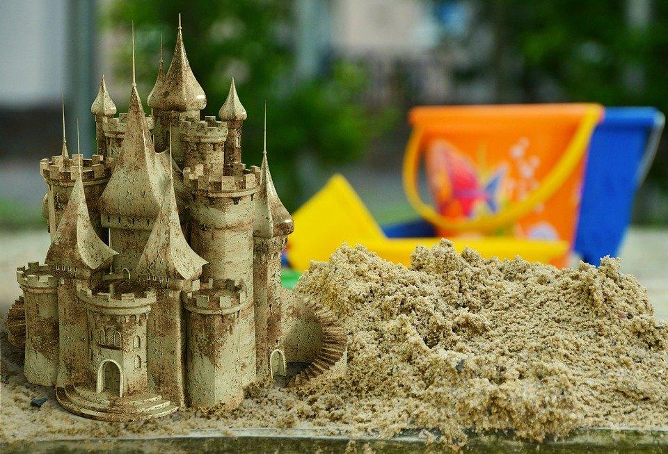 Sand, Sandpit, Sand Castle, Child, Playground